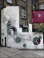 Jana & JS with Ben Slow (Alex Ellison) Tags: urban streetart stencil mural painted shoreditch collab collaboration eastlondon benslow janajs
