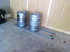 Brew Stand Build 2 (HopticalIllusionist) Tags: home beer stand domestic depot bolts build homebrew lowes brew import keg strut kegs gallon sanke unistrut