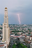 Lightning (Guillermo Murcia) Tags: newyorkcity light newyork storm weather brooklyn america outdoors cloudy neighborhood lightning thunder viewfromabove guillermomurcia