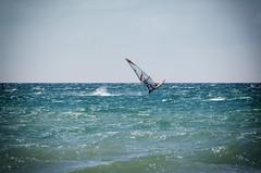 July 9 - Kite-surfers and Sailboarders (kightp) Tags: travel vacation nikon michigan lakemichigan greatlakes wildernessstatepark 2013 d7000