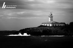 Mallorca (F. Prieto // fprieto.es) Tags: bw lighthouse storm faro mar blackwhite tormenta mallorca blanconegro alcanada fernandoprieto