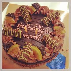 Chocolate Cake HAPPY Birthday to Me จาก พี่ๆ น้องๆ ออฟฟิศ สยามโฟน ;-) โดนแกล้งอ่ะ