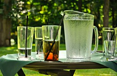 A Sip of Summer (REA // Photography) Tags: summer stilllife water glasses beverage straw pitcher sip refreshment