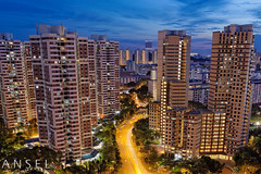 Valley of Concrete (draken413o) Tags: life blue sunset architecture night digital high singapore long exposure cityscapes skylines valley hour redhill housing rise residential hdb blending concerete