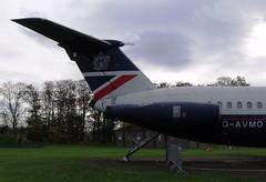 British Airways BAC 111-510ED One-Eleven G-AVMO Tail (Mark 1991) Tags: britishairways bac oneeleven eastfortuneairfield gavmo 111510ed