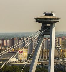 SNP Bridge - UFO (Sugardxn) Tags: bridge photoshop restaurant europe ufo slovakia bratislava snp snpbridge sugardxn garypentin