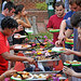 Students fill their plates with great local foods at All Carolina Meal outside Fountain Dining Hall.