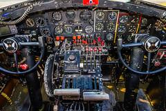 B17 with  Details-5 (4myrrh1) Tags: usa detail vintage airplane virginia airport unitedstates antique aircraft aviation military cockpit b17 va controls ww2 airforce bomber instruments vision:text=059