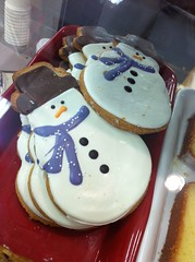 Snowman cookies -I did not make these (f l a m i n g o) Tags: winter food holiday snowman cookie sweet