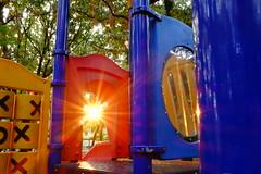 Playground flare (Zen Len) Tags: sun playground japan lens dusk nagoya flare fujifilm setting sooc x100s