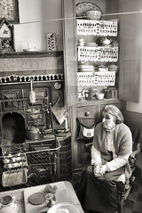 The Anchor Maker's Wife (R~P~M) Tags: uk greatbritain england people museum sitting unitedkingdom cottage sit seated westmidlands tipton blackcountry blackcountrylivingmuseum