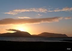 A Nice December Sunset (orquil) Tags: uk winter sunset silhouette clouds islands scotland orkney december hills hoy colourful cloudscape scapaflow