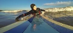 Saltburn fun (Greggybread) Tags: blue sun fun paddle hero longboard hd grom saltburn gopro black3