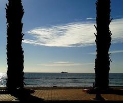 Neptuno (Pacurrio) Tags: ocean sea sky rescue costa coast boat mar mediterranean mediterraneo barco horizon navy vessel armada palm paseo shore cielo malecon boardwalk neptuno neptune cartagena palmera marino horizonte buque orilla marítimo rescate azohia