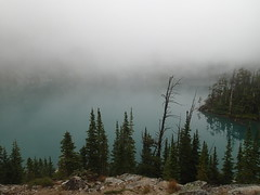 Colchuck Lake (jhudson81) Tags: usa lake fog washington unitedstates hiking nationalforest backpacking wilderness cascademountains enchantments alpinelakeswilderness colchucklake theenchantments colchucklaketrail okanoganwenatcheenationalforest