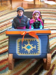 Kristoff's Sleigh (paynedabear) Tags: anna frozen store doll dolls handmade ooak barbie hans disney size custom sled sleigh elsa jcp kristoff jcpenney 2013 vision:people=099 vision:face=099 vision:groupshot=099