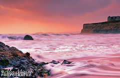 Soft-Evening (Nualchemist) Tags: ocean light sunset sea seascape color beach water clouds landscape twilight sand rocks whitewater waves horizon wideangle sanfranciscobayarea lowangle slowshutterspeed halfmoonbaybeach