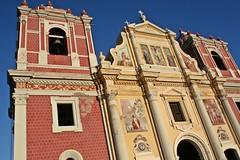 Leon, Nicaragua - Iglesia El Calvario (zorro1945) Tags: red history church religion iglesia murals leon nicaragua centralamerica calvario centroamerica iglesiaelcalvario