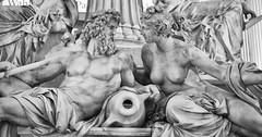 Intense gaze (Banana Muffin (Antonio)) Tags: vienna wien city blackandwhite bw sculpture art fountain austria intense nikon downtown parliament particular athena gaze pallas d700 pallasathenabrunnen