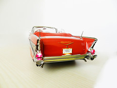 The 1957 Chevrolet Bel Air. Danbury Mint 1/12 (BlueAtlantic38) Tags: usa chevrolet belair unitedstates 1957 112 masterpiece generalmotors danburymint matadorred