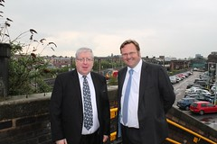 "Stephen Mosley MP and Transport Secretary Patrick McLoughlin at Chester Station • <a style=""font-size:0.8em;"" href=""http://www.flickr.com/photos/51035458@N07/13897907179/"" target=""_blank"">View on Flickr</a>"