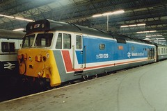 50029 London Waterloo 1988 (jonf45 - 2.5 million views-Thank you) Tags: london english electric br diesel 4 rail trains class waterloo type hoover british locomotive network southeast 50 railways nse renown 50029 d400s