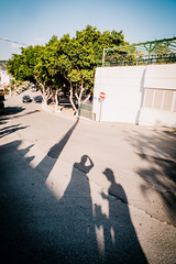 Waiting for the bus home (Fredrik Forsberg) Tags: street trip me work turkey town shadows company colleagues bodrum lx3