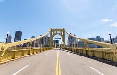 Passage to the City (JPA Photographs) Tags: road city bridge urban yellow photography nikon pittsburgh cityscape angle pennsylvania wide pa jpa d7100