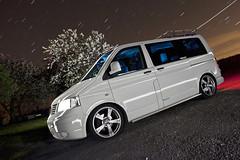 VW T5 ([Nocturne]) Tags: windows vw volkswagen low t5 van dub nocturne transporter dubs roofrack vdub veedub dubz sidebars vwt5 vwscene noctography lpuk lightpaintinguk