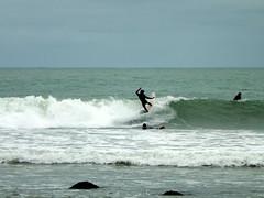 Surfing at Raglan Beach, New Zealand (@crantock) Tags: new travel island bay holidays surf pacific surfer north surfing tourist zealand raglan kiwi manu whaingaroa