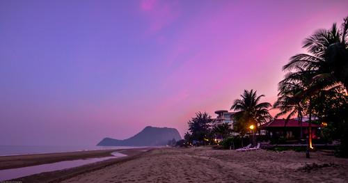 Portrait of dusk on a beach