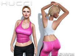 Waana Tank (Eboni Khan) Tags: world original female tank mesh avatar knot virtual tied custom physique fitted slink hucci houseofhucci spring2015