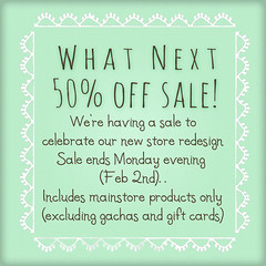 {what next} 50% off sale (What Next/Winter Thorn) Tags: secondlife whatnext {what next}