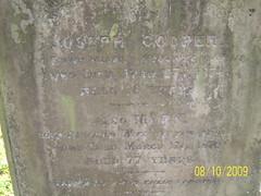 Grave of Joseph Cooper