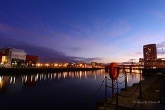 BelfastAtNight2 (CharlesM-2) Tags: longexposure ireland light sunset sky water night clouds reflections river nikon belfast northernireland feb northcoast 2015 riverlagan charlesm clarendondock d7100 shadowpm2