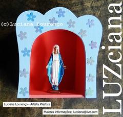 Nossa Senhora das Graas (LUZciana) Tags: azul grande do flor norte nossasenhoradasgraas florzinha nossasenhora artesacra oratrio pium relicrio lucianaloureno luzciana madeinpiumrnrio