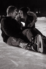 | Erika - Philippe | (vickyfinley) Tags: winter canada cold cute 50mm couple candle hiver soir froid qc glace chandelle amoureux patinoire 2015 stejulie canon60d parcharvey