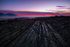 Alien Sunrise (Stefan Nikoloff - Photography) Tags: new blue red sea seascape beach water clouds sunrise nikon rocks long exposure purple shoreline boulders zealand shore d750 seashore kaikoura waterscape 2470mm