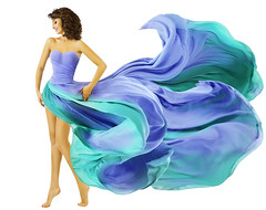 Woman Dress Flying Fabric, Fashion Girl in Blue Waving Summer Skirt over White background (noor.khan.alam) Tags: blue summer portrait people woman white motion color art girl beautiful beauty fashion lady female hair flying dance clothing model glamour colorful long dress view legs artistic wind body teal background side profile fulllength creative young silk style blowing skirt latvia clothes fabric flowing gown cloth waving isolated fluttering pleats womandress