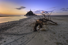 Le Mont ... (Ludovic Lagadec) Tags: longexposure sunset sea sky mer seascape france architecture river landscape sand marin riviere normandie manche montsaintmichel nisi couesnon mare nd64 gnd8 grandemare filtrend ludoviclagadec
