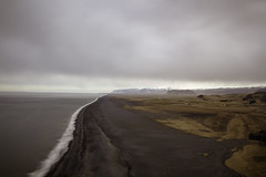Flow of the ocean (aerojad) Tags: ocean longexposure travel cliff beach nature landscape blacksand iceland sand waves gloomy cloudy dreary wanderlust southcoast atlanticocean blacksandbeach dyrhlaey daytimelongexposure thesouthcoast iceland2016