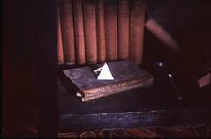 (bensn) Tags: art film glass japan 50mm triangle pentax f14 room prism slide books provia fa gunma lx 100f biannuale