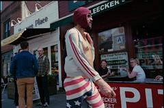 (OQ62) Tags: nyc newyorkcity urban film analog 28mm westvillage americanflag 400 vista gothamist agfa spandex bleeckerstreet agfavista400 contaxg2 epsonv700