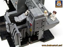 DEATH STAR WORLD COMPLETE 03 (baronsat) Tags: rescue death star lego wars leia compactor rotj