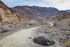 Mosaic Canyon, Death Valley (lycheng99) Tags: sky mountain mountains nature landscape rocks hiking path mosaic bluesky hike deathvalley hikers hikingtrail rockformation mosaiccanyon deathvalleynationalpark