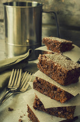Beer Brownies (flashfix) Tags: wood ontario canada beer dessert nikon sweet chocolate ottawa treat canister brownies stacked foodphotography 2016 sweetsunday frommykitchen d7000 beerbrownies happysweetsunday 2016inphotos june122016