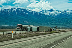 Mother Nature 1 - Semi 0 (campmusa) Tags: mountains spring highway may semi freeway moab trucks semitruck i84 autoaccident utahtrip 2016 semitrucks nikond750