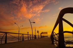 Sunset on the bridge | Lima, Per (carlo.paredes) Tags: trip travel bridge sunset peru sunrise landscape peruvian latinoamerican