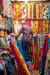 Camouflaged (loddeur) Tags: street travel colour shop market dessin textile fabric souk doha qatar drapers souqwaqif
