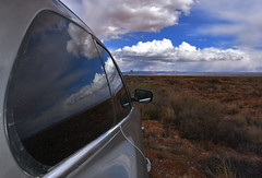 Vermillion Cliffs (Kevin.Donegan) Tags: travel blue arizona sky usa reflection car america desert roadtrip scrub vermillion vermillioncliffs 89a